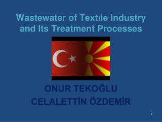 Wastewater  of  Textıle Industry and Its Treatment Processes