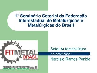 1  Semin rio Setorial da Federa  o Interestadual de Metal rgicos e Metal rgicas do Brasil