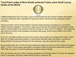 Trout Point Lodge of Nova Scotia achieves 5 stars, joins Sma