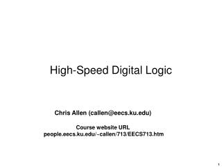 High-Speed Digital Logic