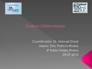 Cesárea e Histerectomía