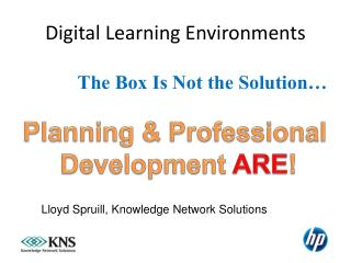 Digital Learning Environments
