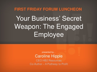 First Friday Forum Luncheon