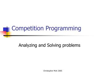 Competition Programming