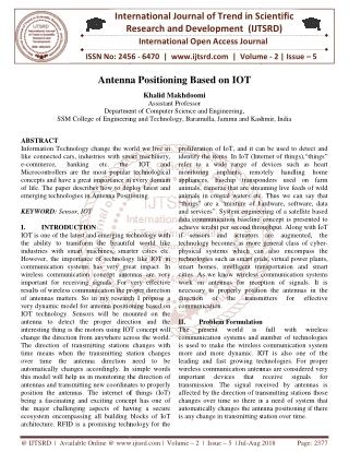 Antenna Positioning Based on IOT