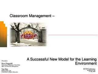 Classroom Management –