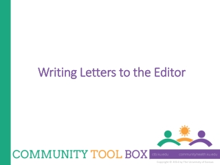 Writing Letters to the Editor