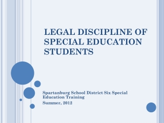 LEGAL DISCIPLINE OF SPECIAL EDUCATION STUDENTS