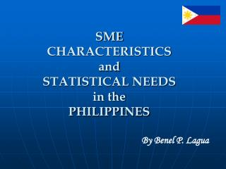 SME  CHARACTERISTICS  and STATISTICAL NEEDS  in the PHILIPPINES