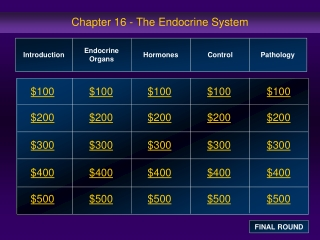 Chapter 16 - The Endocrine System