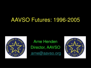 AAVSO Futures: 1996-2005