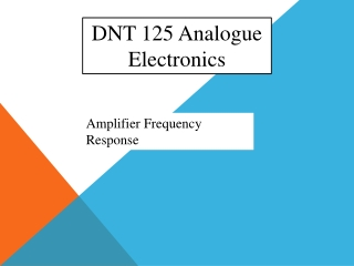 DNT 125 Analogue Electronics