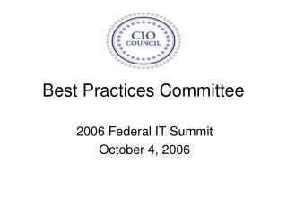 Best Practices Committee