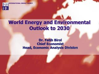 World Energy and Environmental Outlook to 2030