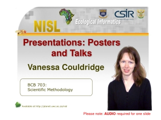 Presentations: Posters and Talks