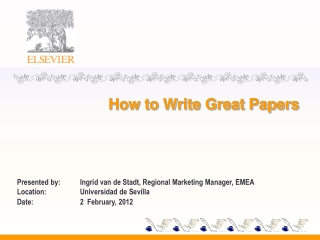 How to Write Great Papers
