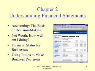 Chapter 2 Understanding Financial Statements