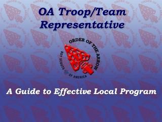 OA Troop/Team Representative