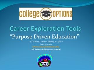 Career Exploration Tools