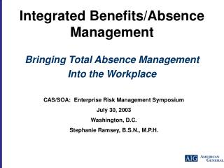 Integrated Benefits/Absence Management