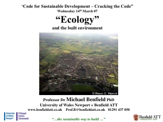 """""""…the sustainable way to build …"""""""