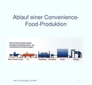 Ablauf einer Convenience-Food-Produktion