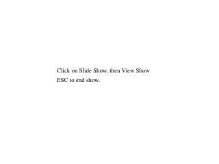 Click on Slide Show, then View Show ESC to end show.