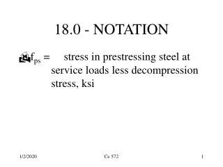 18.0 - NOTATION