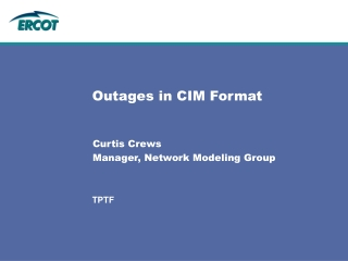 Outages in CIM Format