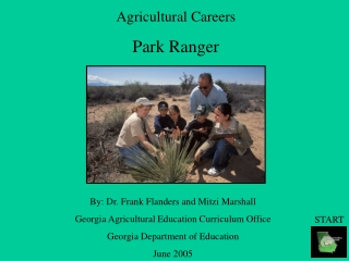 Agricultural Careers Park Ranger
