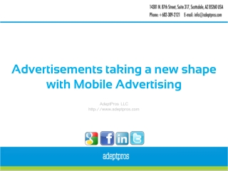 Advertisements taking a new shape with Mobile Advertising