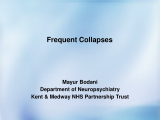 Frequent Collapses