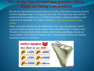 bad credit installment loan lenders