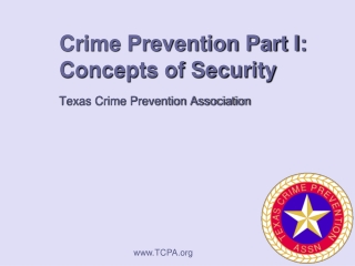 Crime Prevention Part I: Concepts of Security