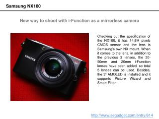 [Samsung NX100] New way to shoot with i-Function as a mirror