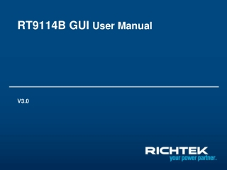 RT9114B GUI  User Manual
