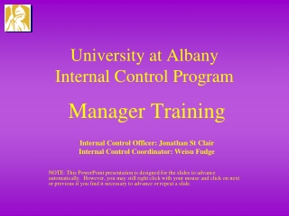 Internal Controls - Applications