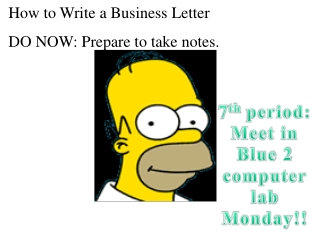 7 th  period: Meet in Blue 2 computer lab Monday!!