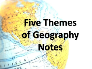 Five Themes  of Geography Notes