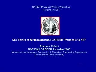 CARER Proposal Writing Workshop November 2004