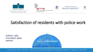 Satisfaction of  residents  with  police  work
