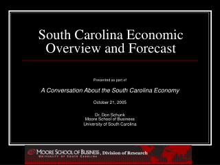 South Carolina Economic Overview and Forecast