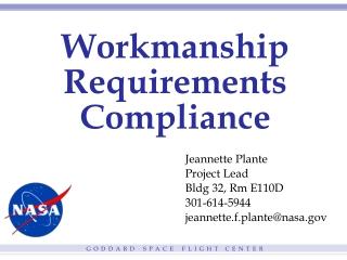 Workmanship Requirements Compliance
