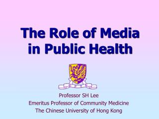 The Role of Media in Public Health