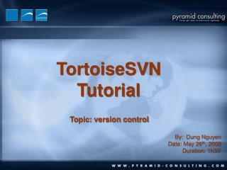TortoiseSVN Tutorial