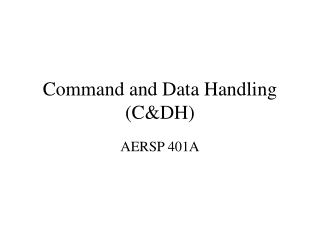 Command and Data Handling (C&DH)