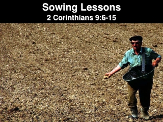 Sowing Lessons