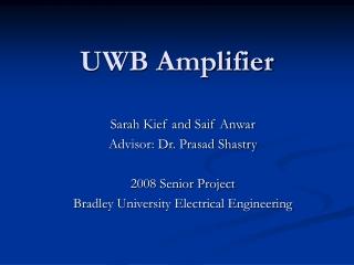 UWB Amplifier