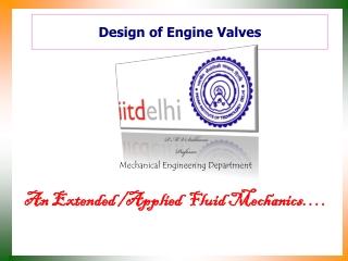Design of Engine Valves