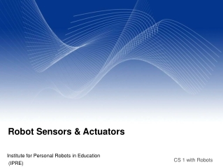 Robot Sensors & Actuators